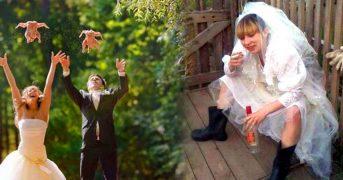 Самые нелепые свадебные фотографии