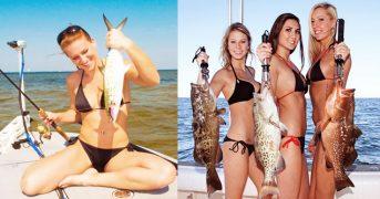 Девушки на рыбалке с удачным уловом 19 фото