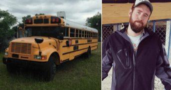 Мужчина построил дом своей мечты в школьном автобусе