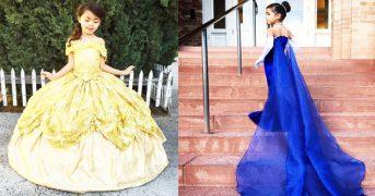 Дизайнер шьет  шикарные платья из сказок Диснея для девочек